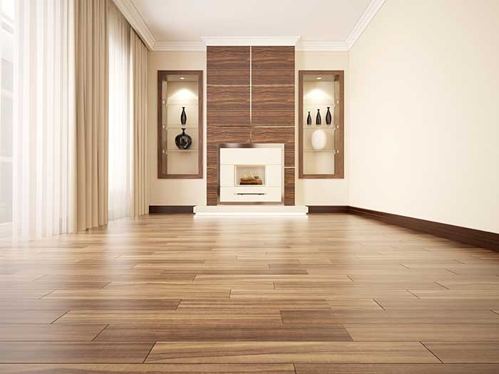 Single Room with Gorgeous New Laminate Flooring